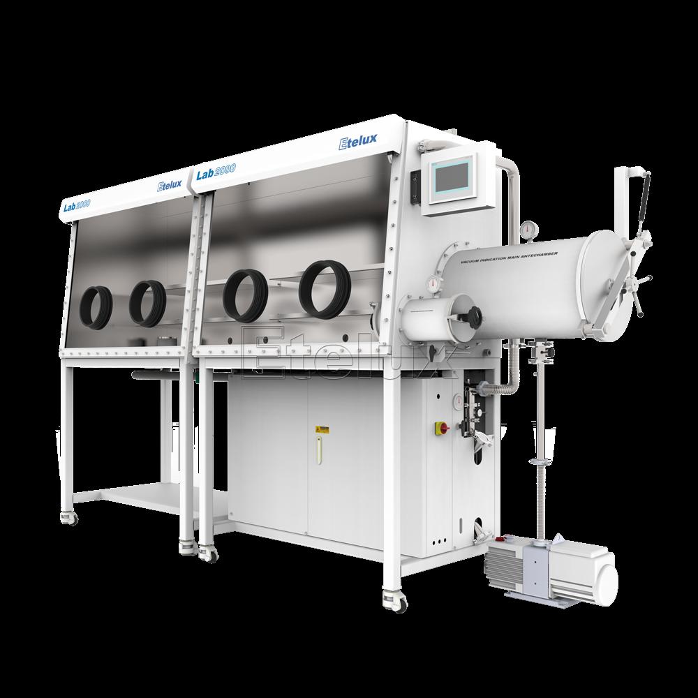 Lab2000-2400双工位一体式单面手套箱